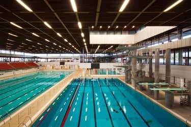 Environmental consultancy burohappold engineering for Ben lomond high school swimming pool