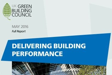WGBC delivering building performance report