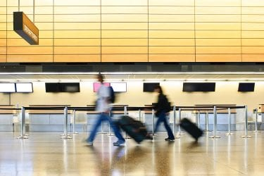 Airport design layout and process optimisation, people flow modeling