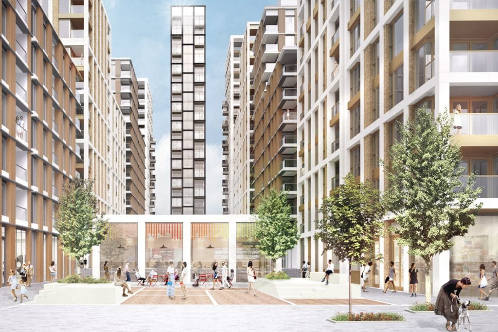 mixed use development in London