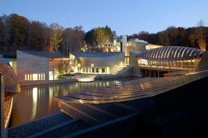 Crystal bridges tensile roof structure