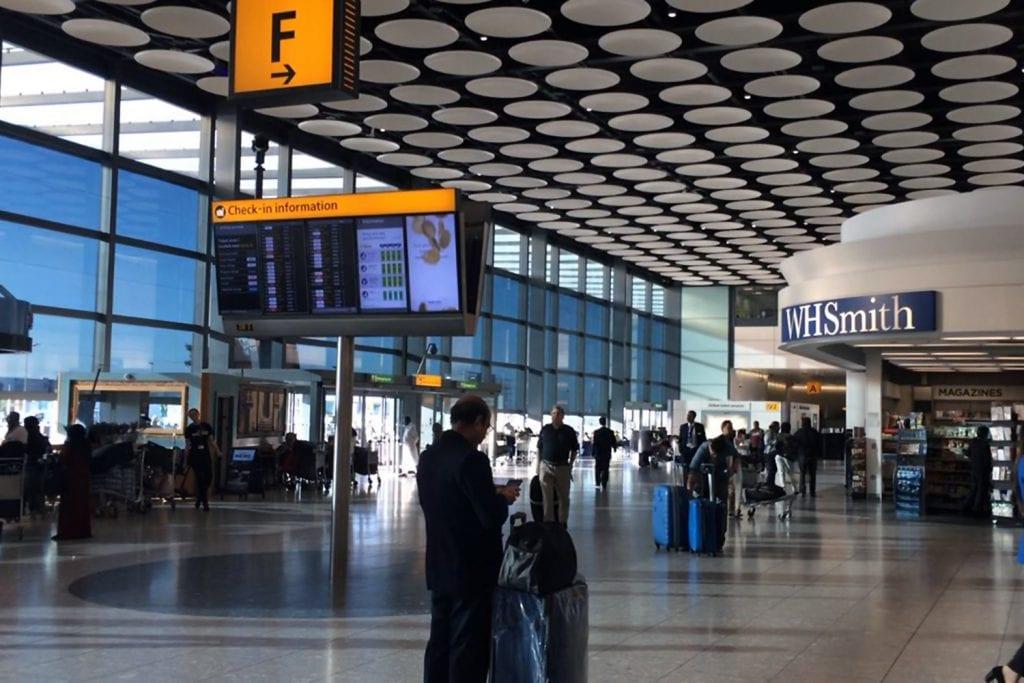 Interior of Heathrow Terminal 4