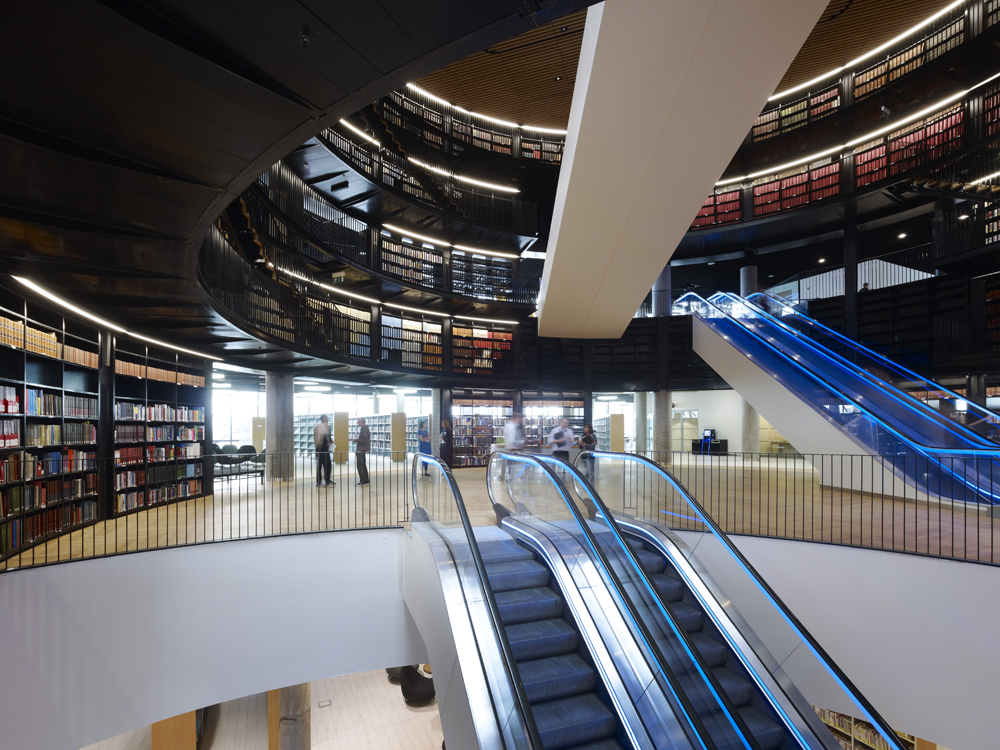 Library of Birmingham Book Rotunda - Image Copyright Christian Richters