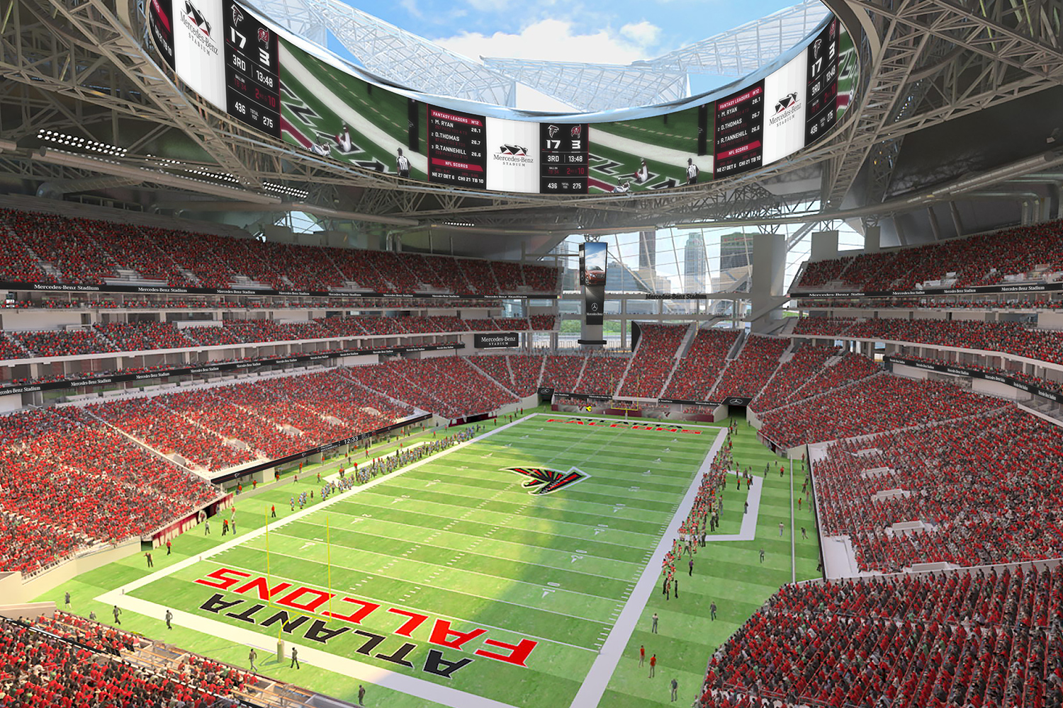 Mercedes benz stadium burohappold engineering for Estadio mercedes benz