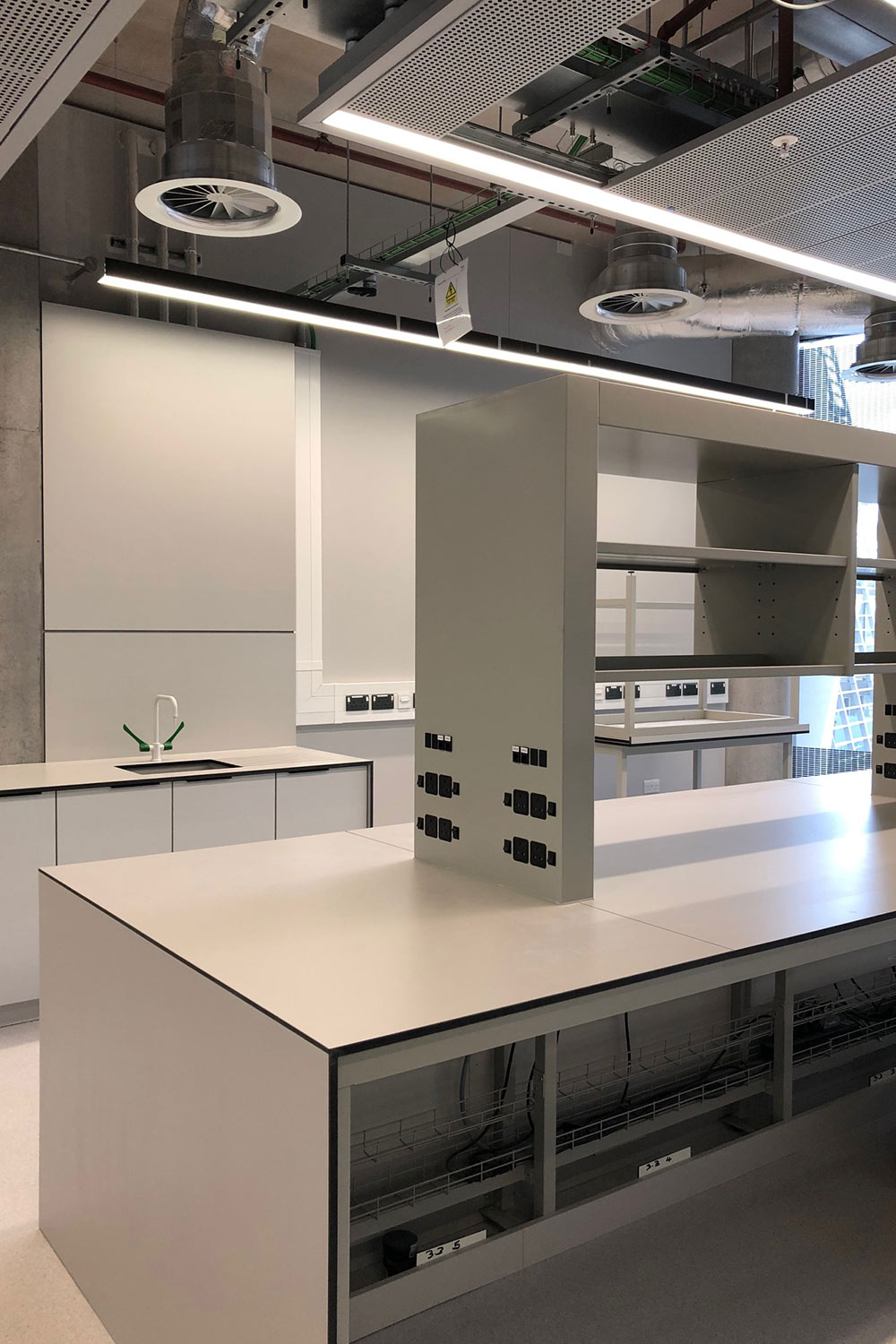 Newly installed research laboratories in the Michael Uren Building