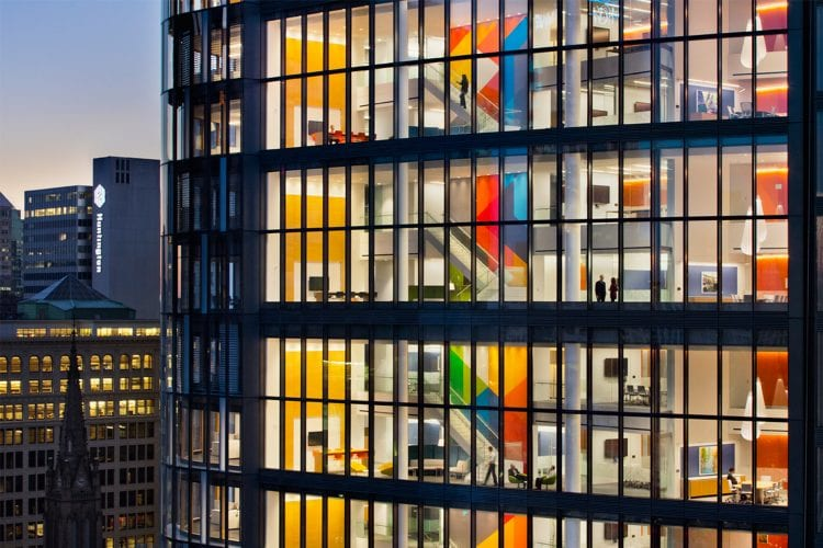 sustainable commercial office building LEED