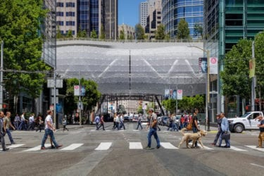 Street-view of Salesforce Transit Center