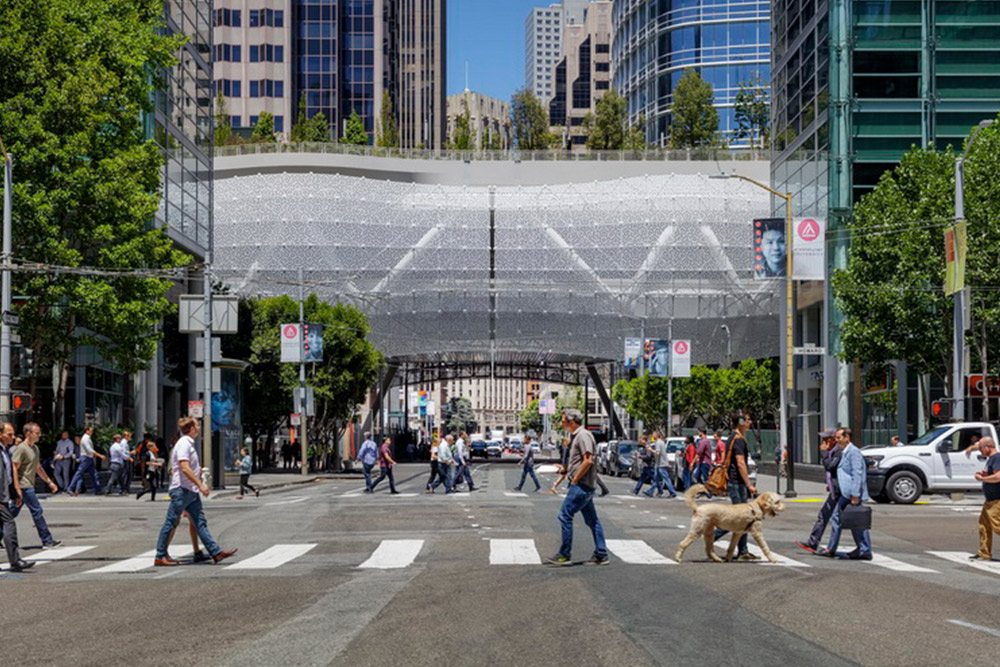 Street-view of Salesforce Transit Center