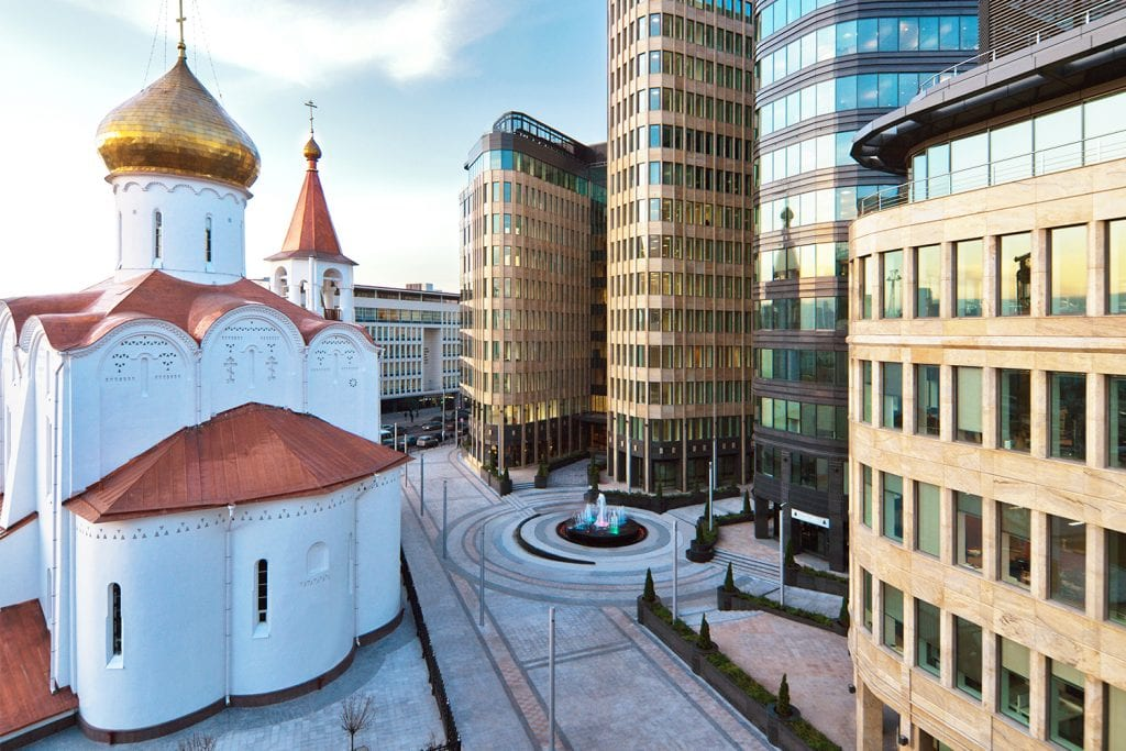 White Square commercial offices Moscow Russia
