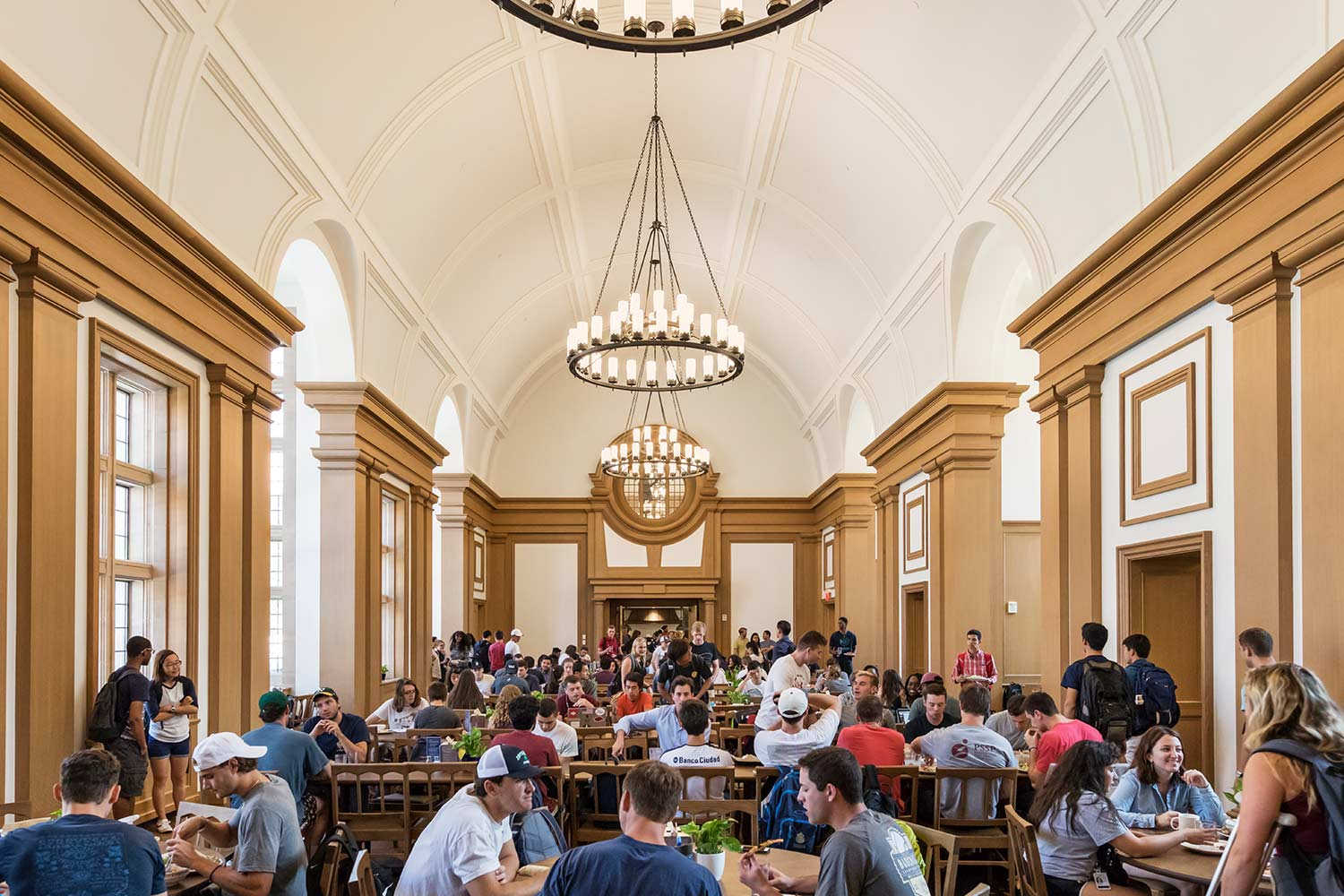 Interior view of common space, Yale University, Residential Colleges