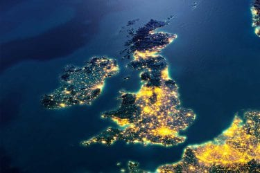 uk with lights on at hight