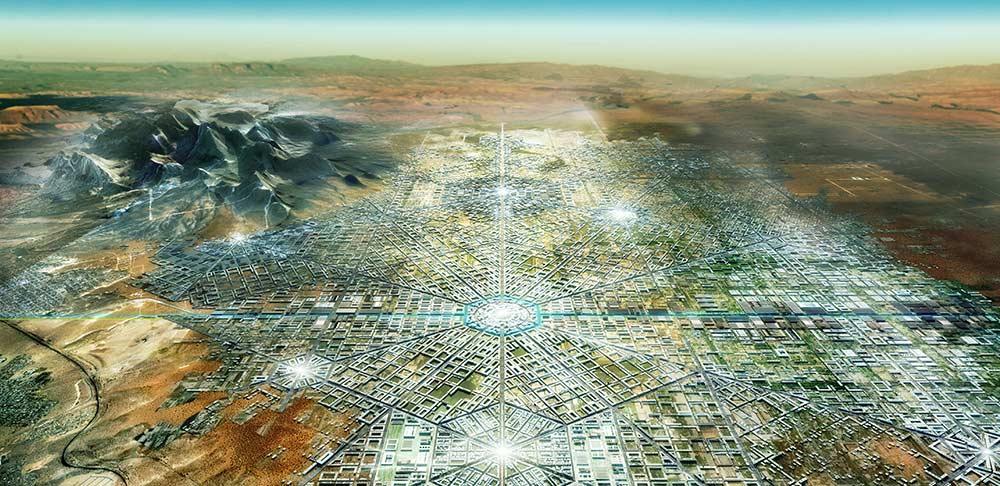 Border City - Aerial view render.  Image: FR-EE
