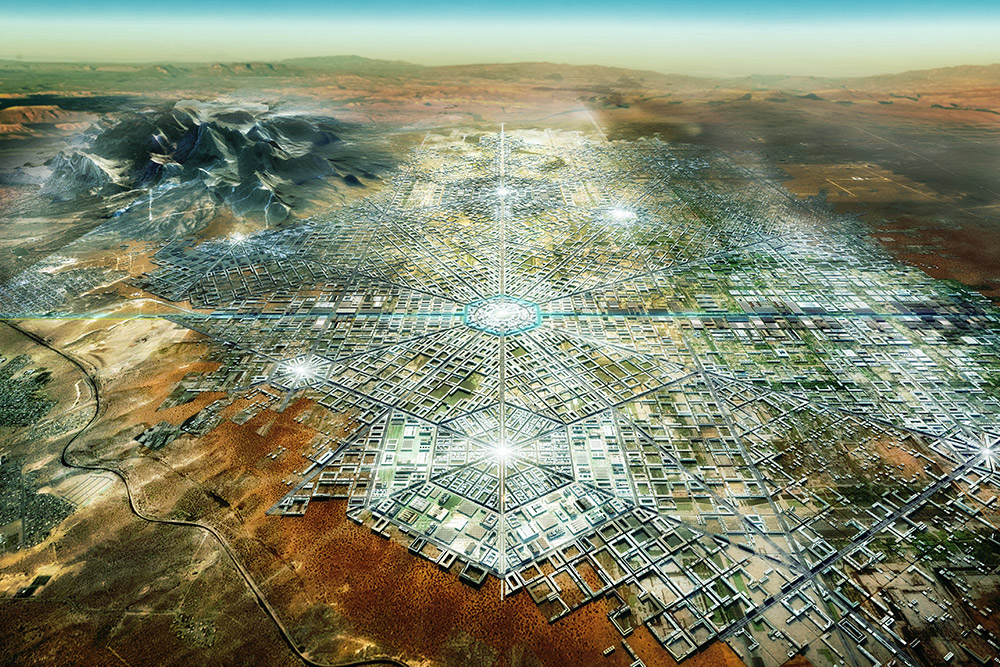 Border City - Aerial view