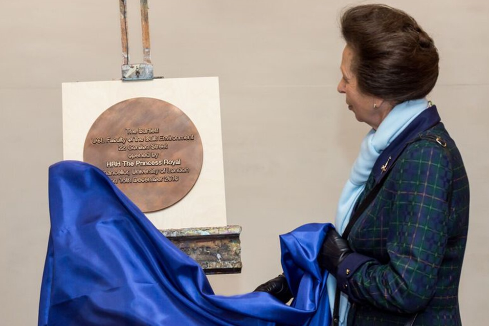 HRH Princess Anne unveiling a plaque for the newly refurbished building . Image: Richard Stonehouse