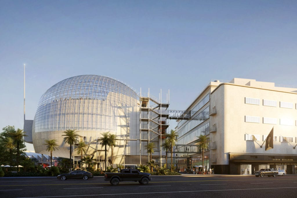 Academy Museum of Motion Pictures exterior street image