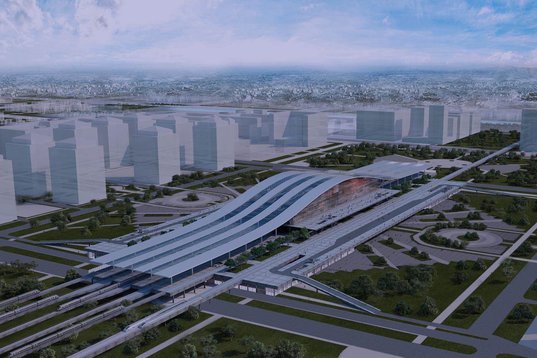 astana rail station