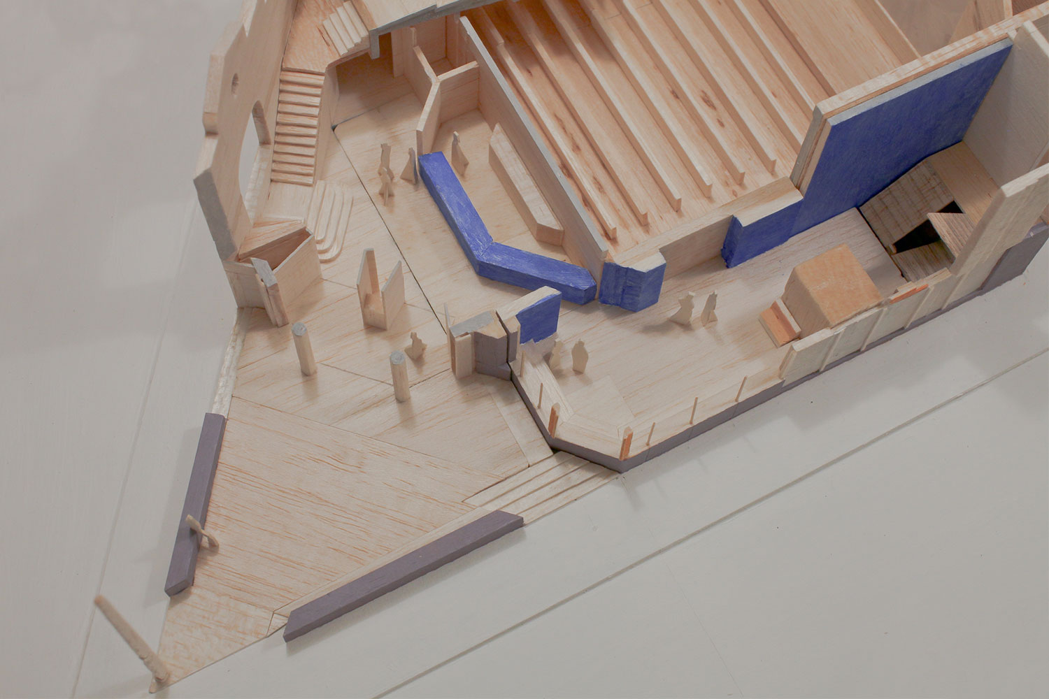 Model showing interior of Hyde Park Picture House HPPH