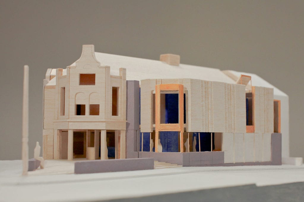 Model showing exterior facade of Hyde Park Picture House HPPH
