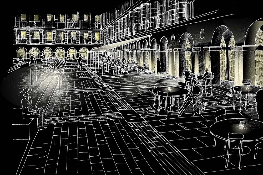 Lighting design award win for piece hall burohappold engineering