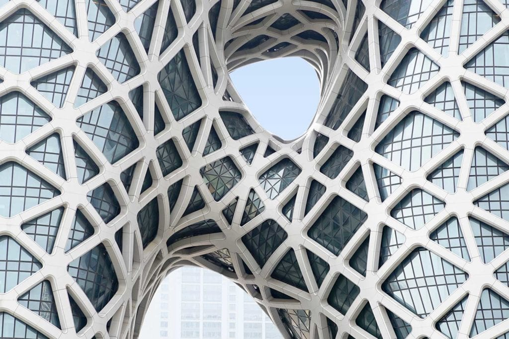 Close-up of unique facade of Morpheus