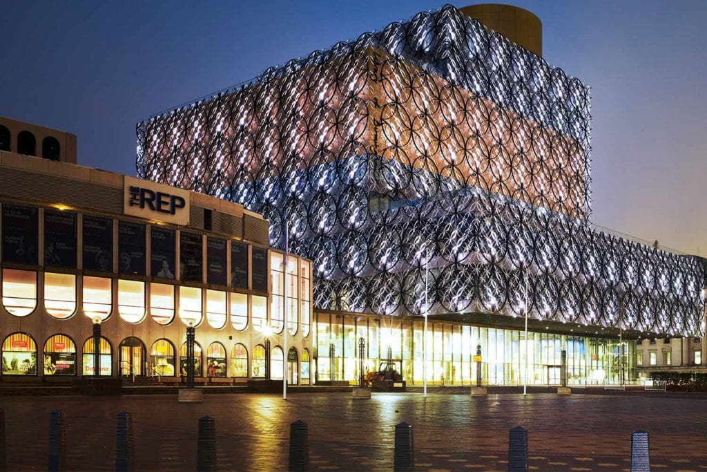 Facade of The REP Theatre Birmingham