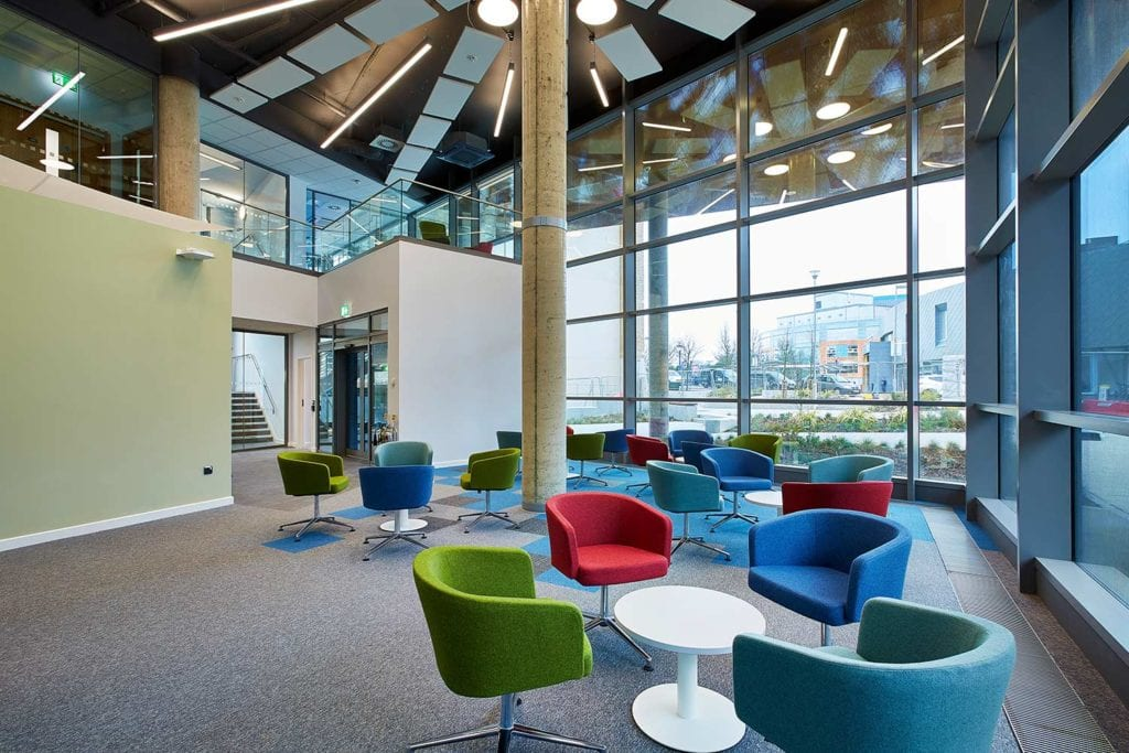 Interior communal space at Southampton Centre for Cancer Immunology