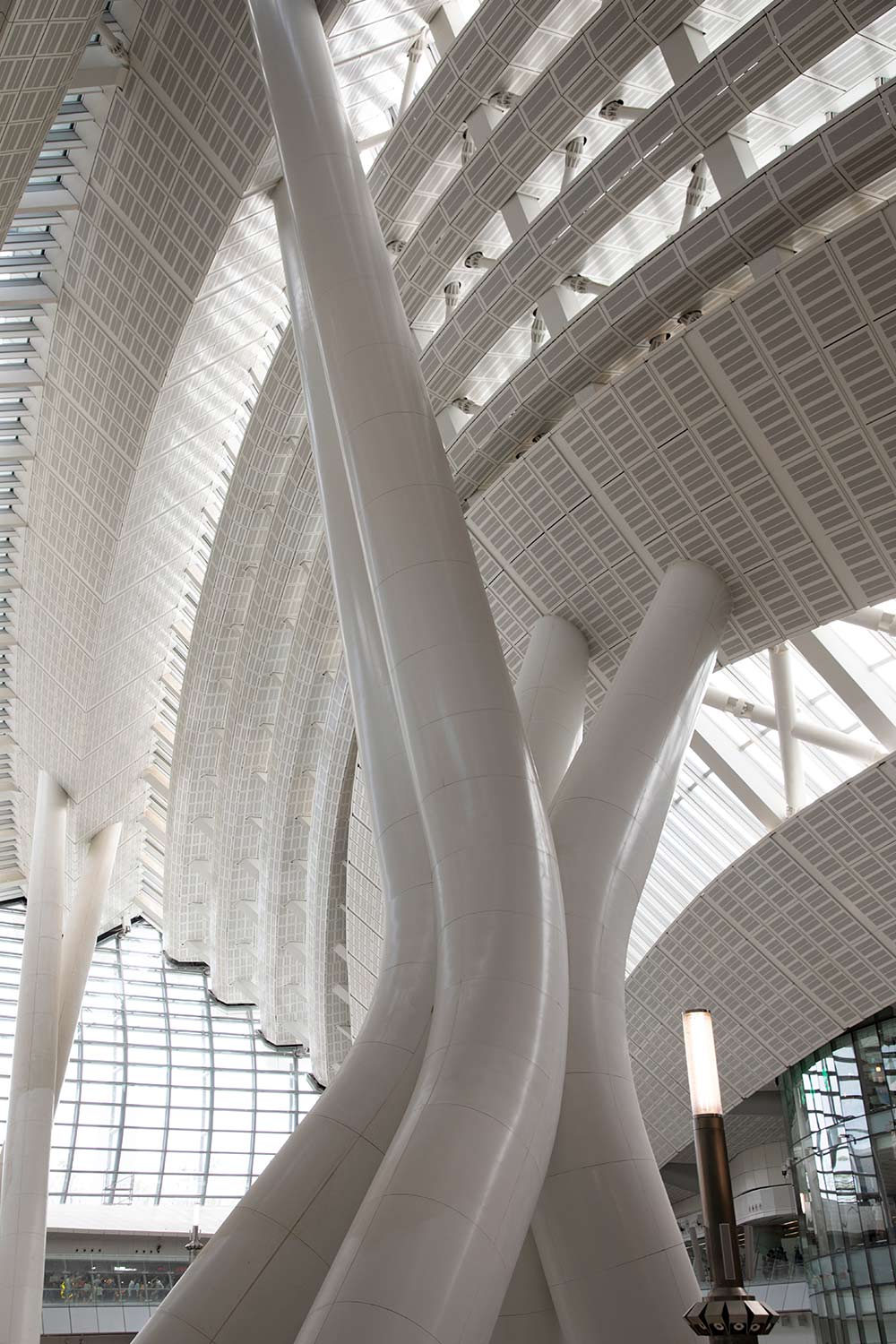 Interior support in West Kowloon Terminus Station