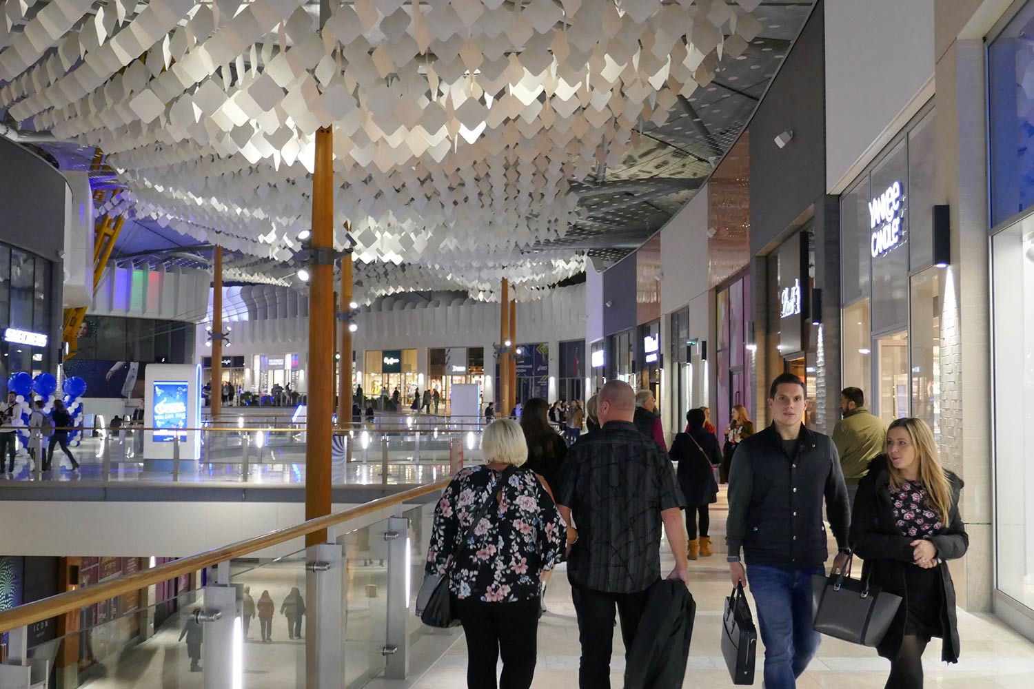 People walking through ICON at the O2