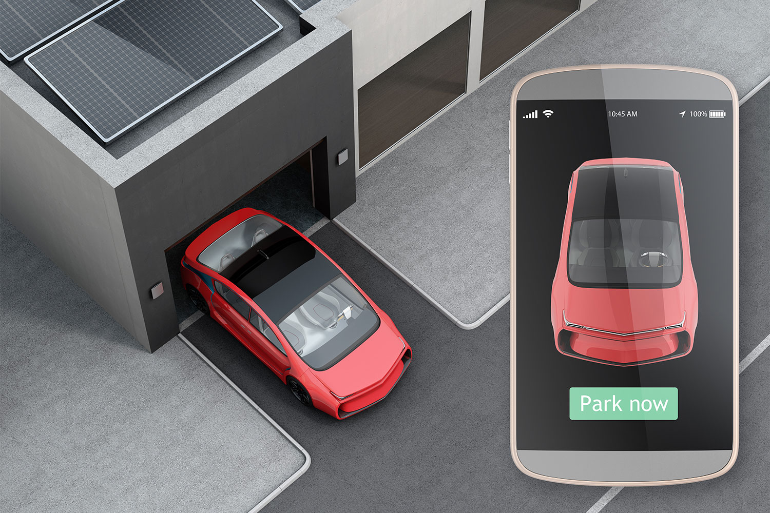 Smart garages incorporate charging points