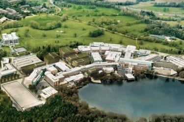 Aerial view of Alderley Park