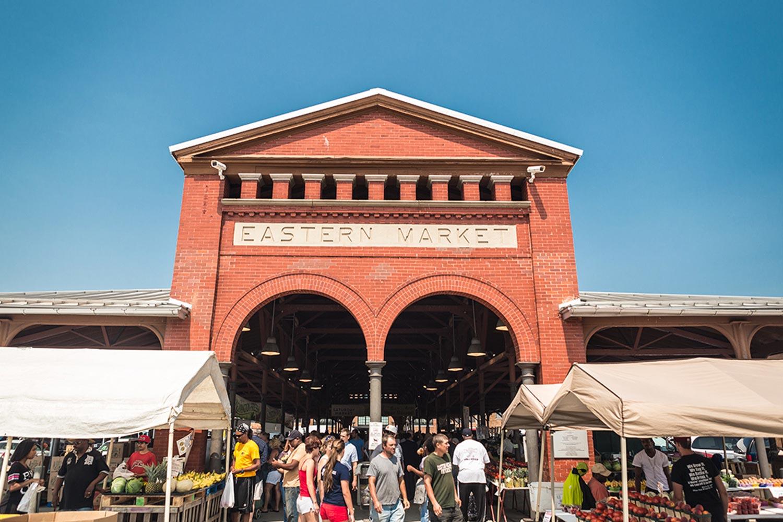 Busy Detroit Eastern Market