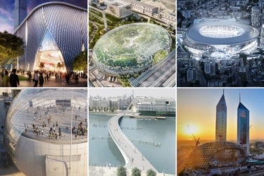 Montage of six 2019 BuroHappold projects