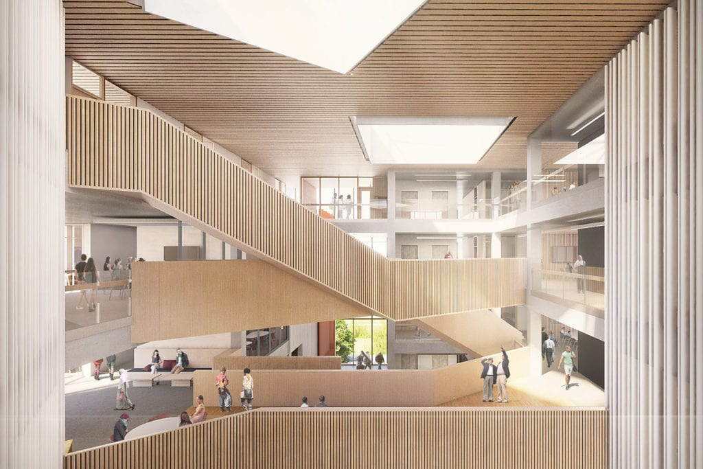 Warwick Faculty of Arts Atrium render