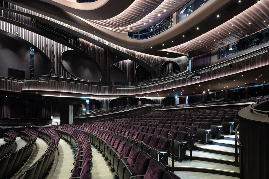 interior area of xiqu cultural centre theatre area