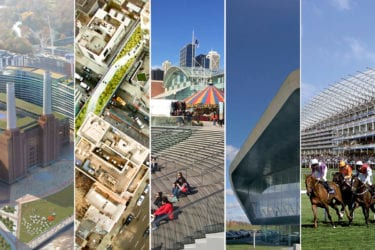 Montage of five BuroHappold sites used in film