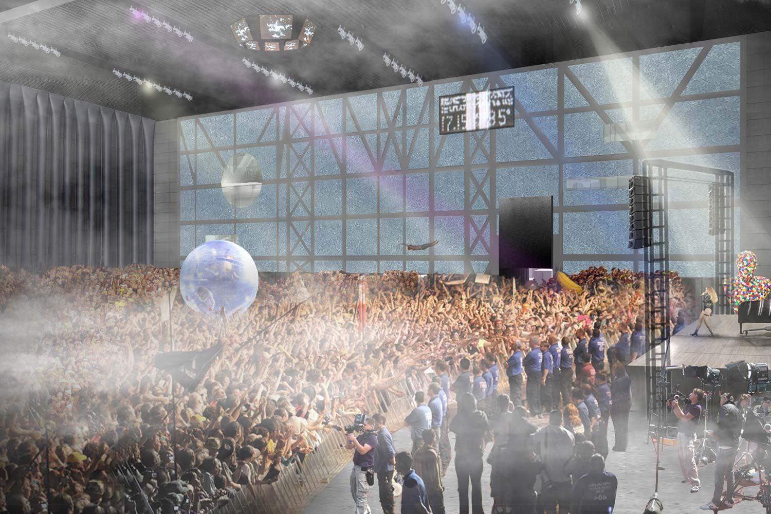 A concert taking place at The Factory