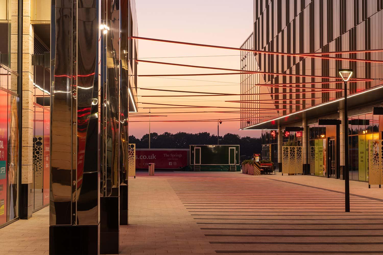 Thorpe Park, Leeds, at sunset