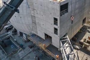 Academy Museum of Motion Pictures bridge construction