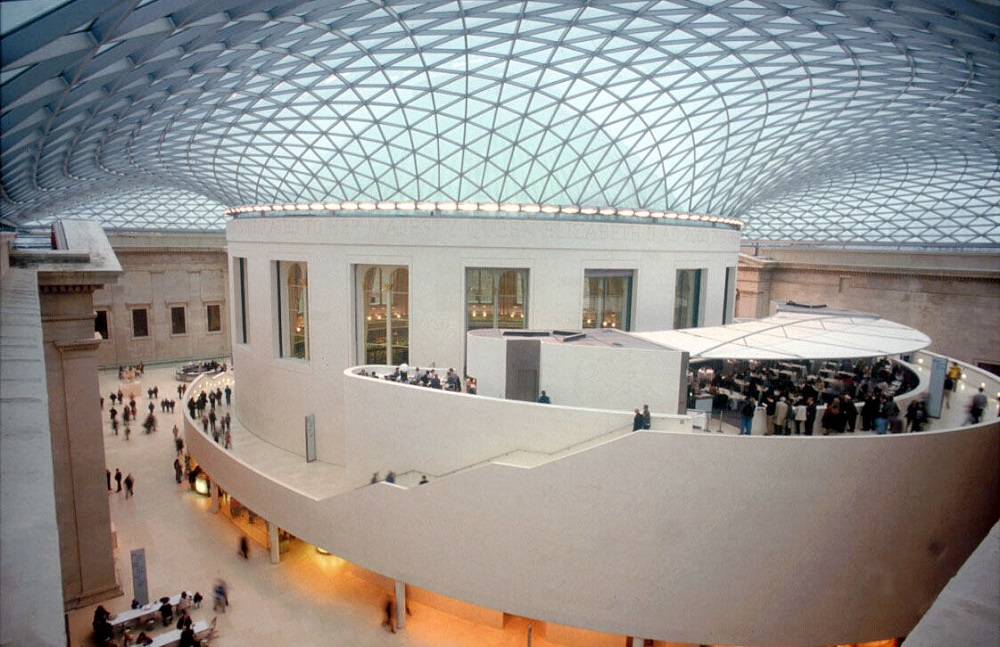 Queen Elizabeth ll Great Court, The British Museum, London, UK.