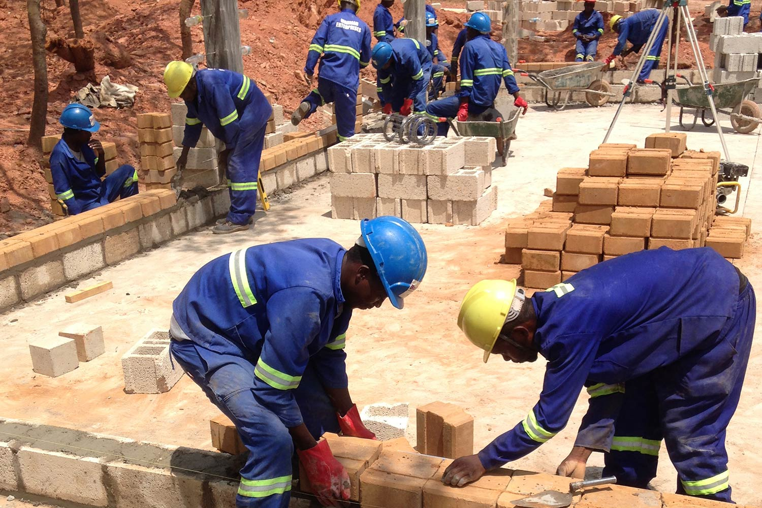 Trainees working on the Build It International Centre for excellence