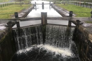 Close-up of Falkirk Canal