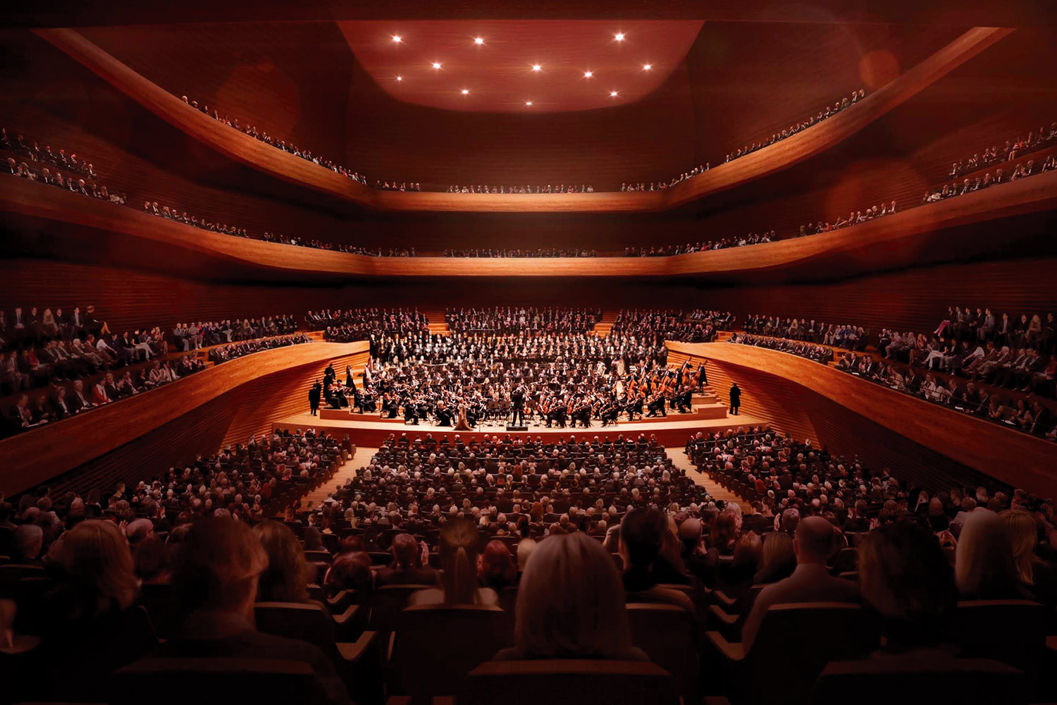 Interior view of the new Concert Hall in Munich