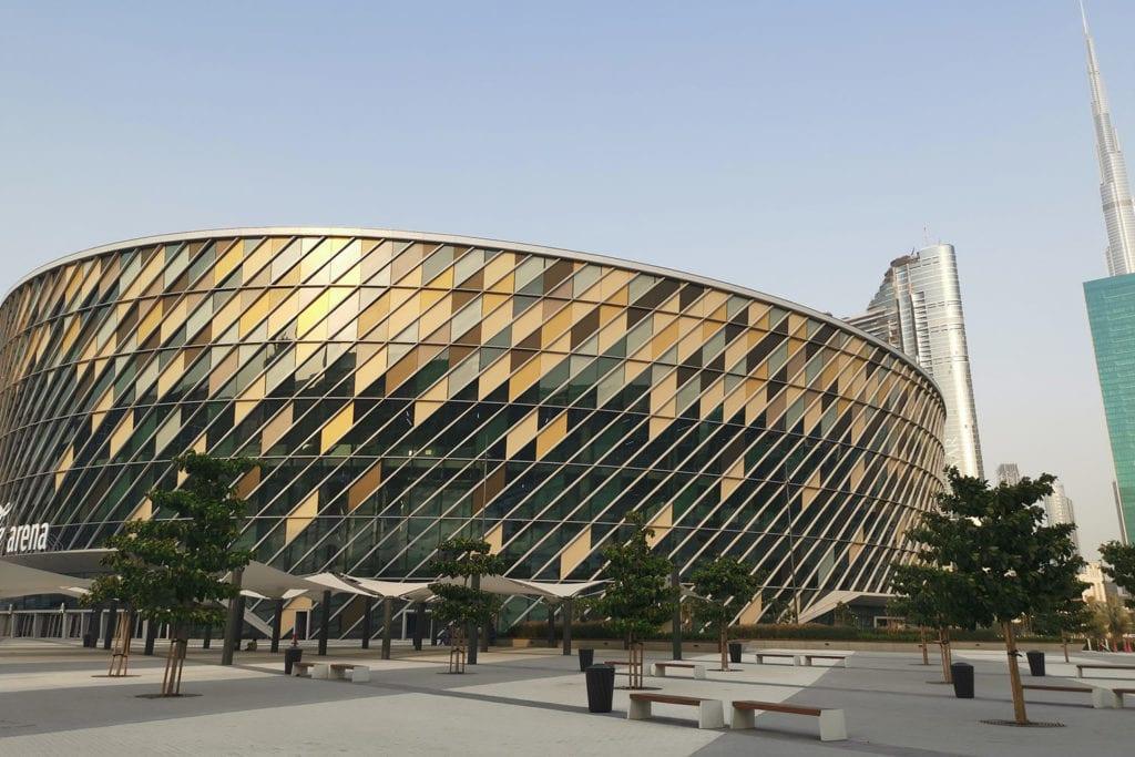 Exterior image of The Coca-Cola arena in Dubai
