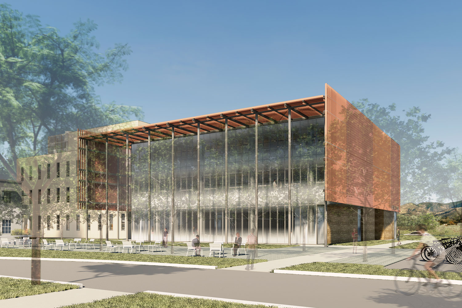 Exterior shot of the Institute for Energy Efficiency, University of California