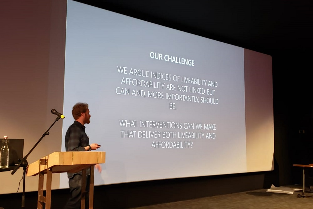 ergus speaking at Academy of Urbanism Annual Congress in Eindhoven, June 2019