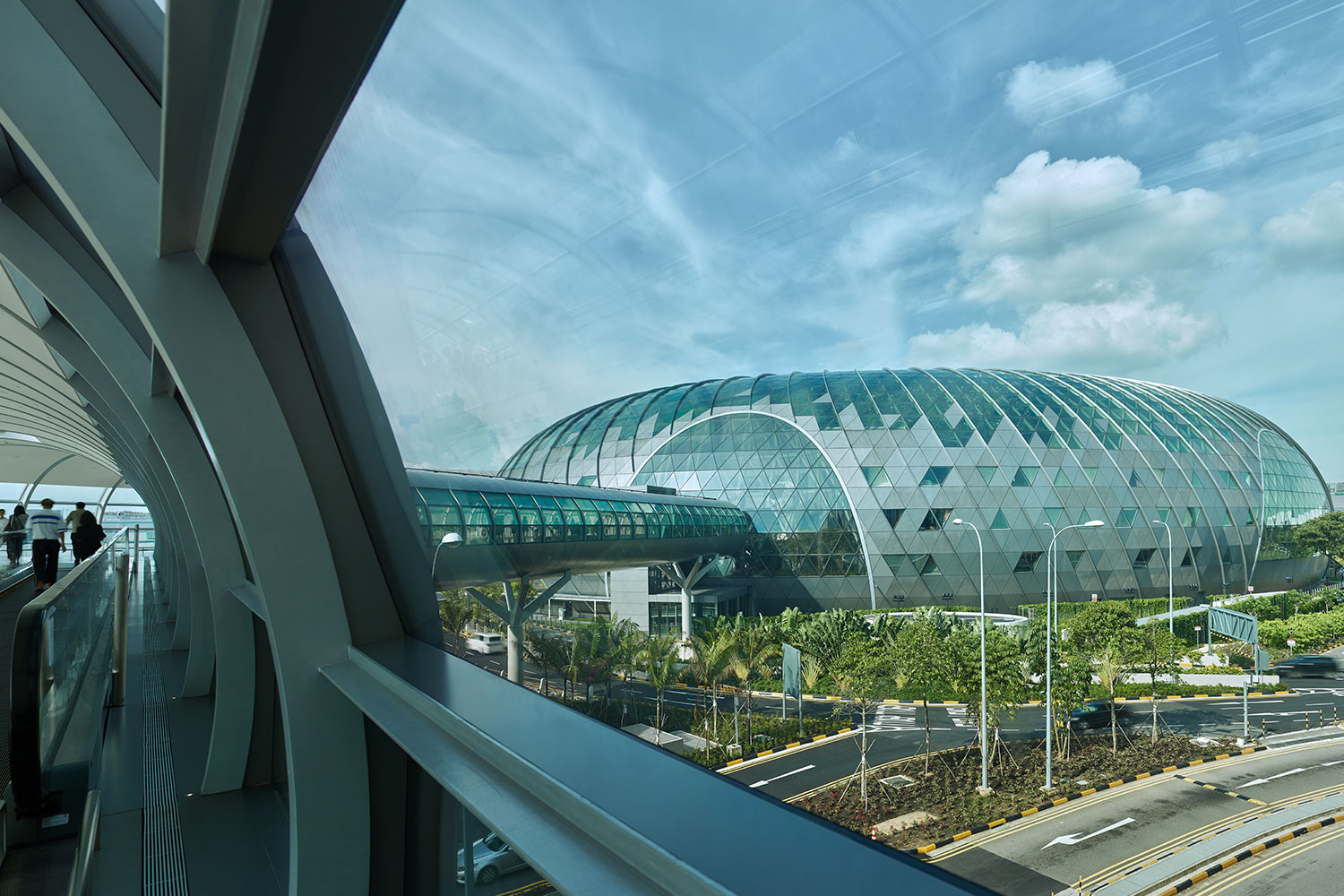 External view of the unique Jewel Changi Airport