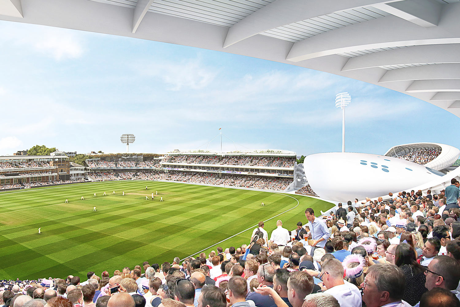 View from the stands at Lords Cricket Ground