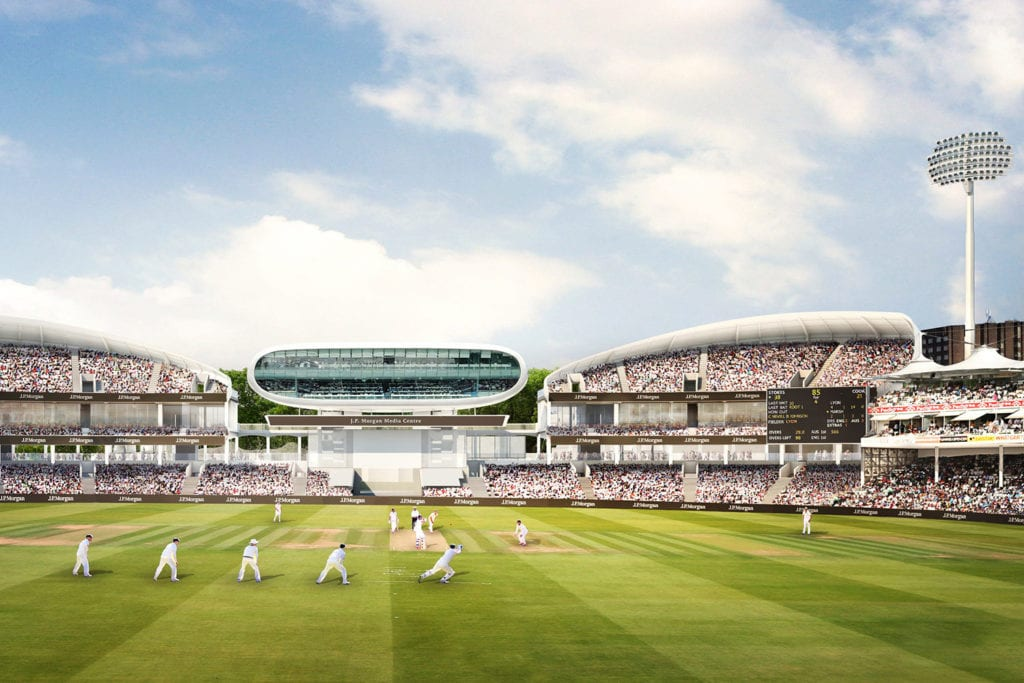 A cricket match at Lords Cricket Ground