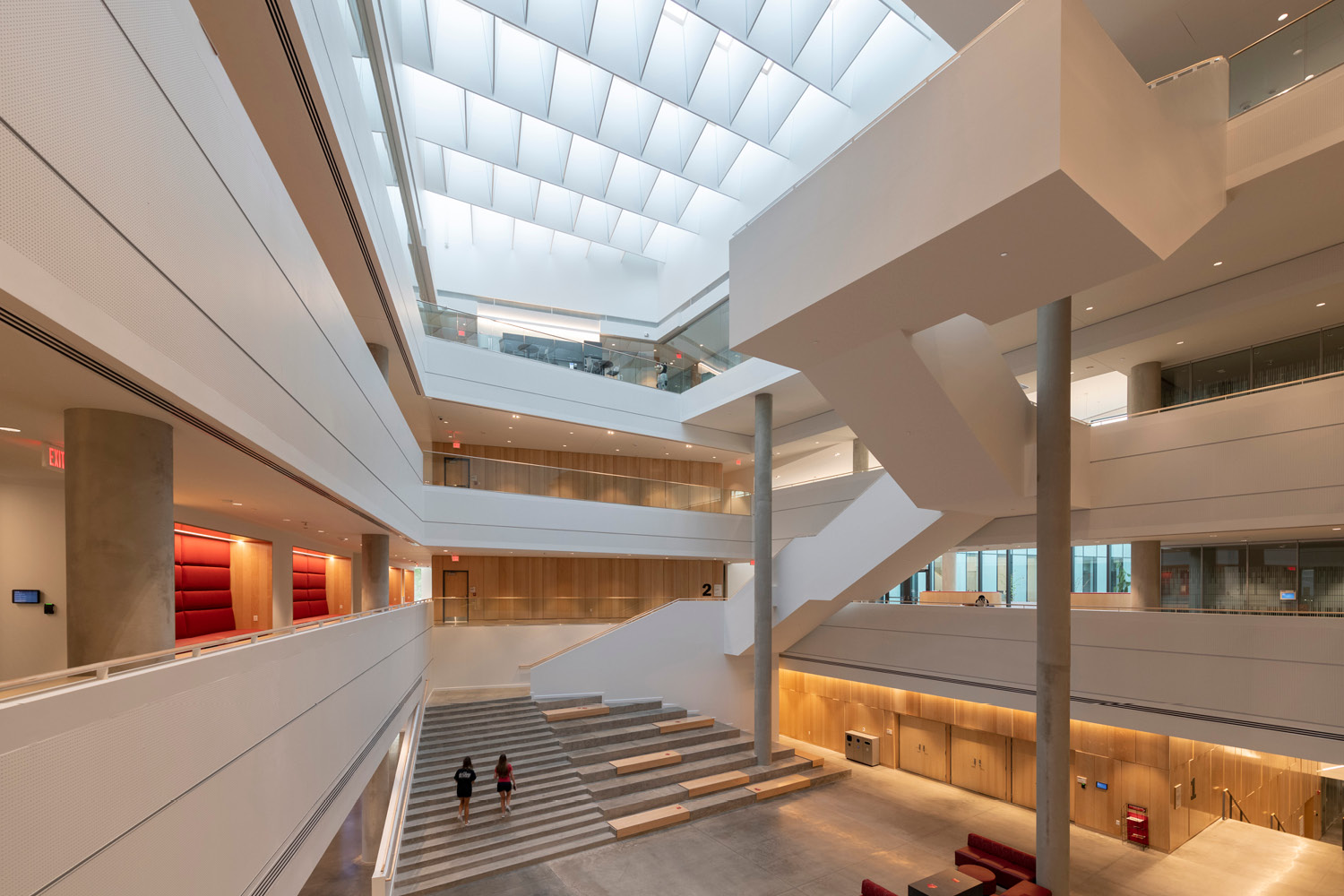 University of Cincinnati Lindner College of Business' 4-story open lobby atrium