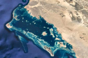 Satellite view of Red Sea Coast